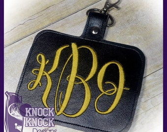 BLANK Rounded Rectangle 3.5 Tall X 4.5 Wide - In The Hoop - BAG Tag - DIGITAL Embroidery Design