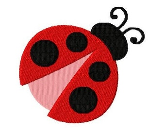 Embroidery Design Ladybug 4'x4' - DIGITAL DOWNLOAD PRODUCT
