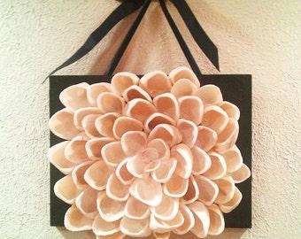 Seashell Wall Decor Lotus Flower Wall Art
