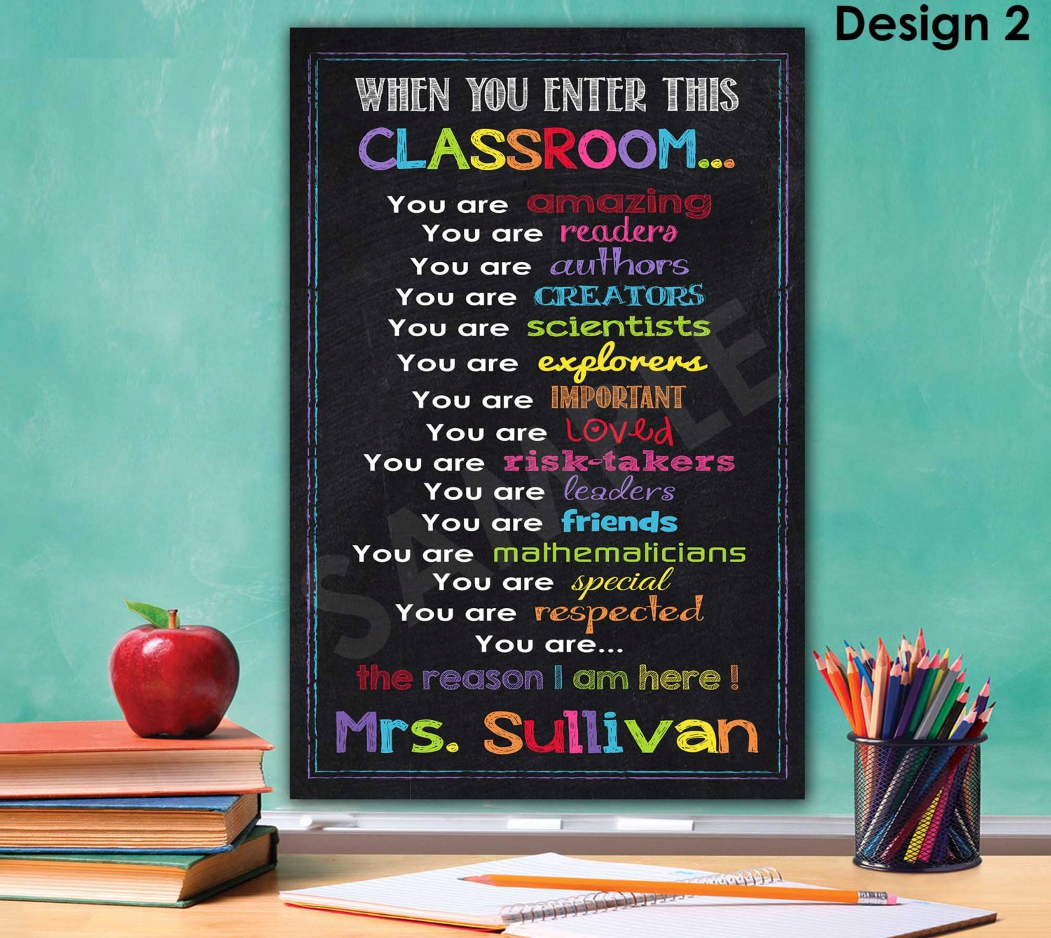 Classroom decor classroom sign wall art teacher christmas - Classroom wall decor ...