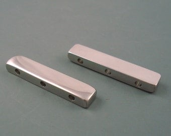 Stainless Steel Spacer Bar, Two 30MM x 6 X 3MM Stainless Steel Three Hole Spacer Bars (30MMSSSB)