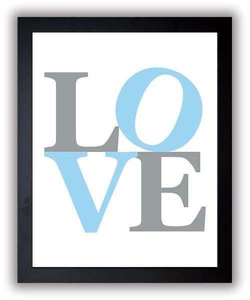 Love Nursery Art Nursery Print Baby Art Blue Silver Grey Love Sculpture Baby Blue Print Boys Wall Ar