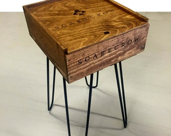 Scarecrow Wine box and Wine Bottle Storage or bar table
