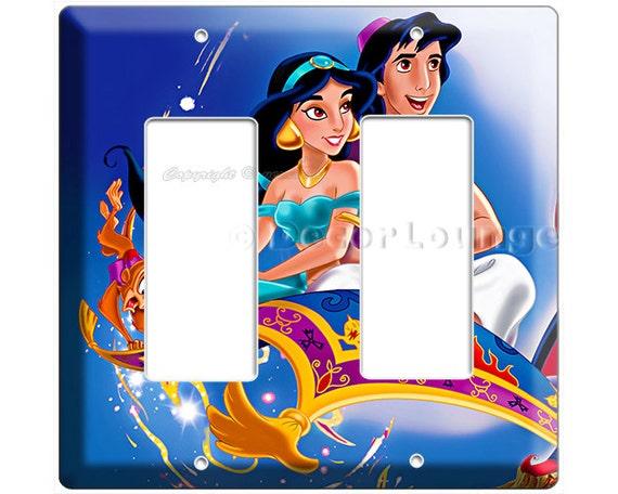 Aladdin Princess Jasmine Magic Carpet Double Gfci Light Switch