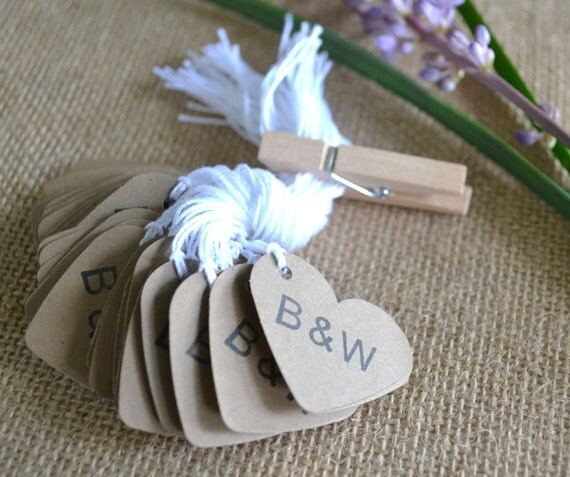 Wedding Favor Tags Bulk : wedding favor tags, kraft mini heart bulk hang tags with string, bulk ...