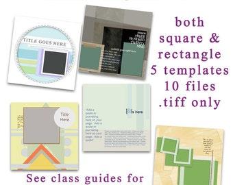 Digital Scrapbooking Template Set 21
