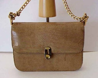 Rare LEDERER Snakeskin HANDBAG 711 Fifth Avenue Made in France Superb