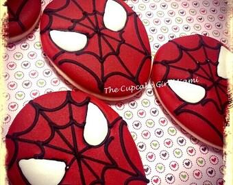 Spiderman - Sugar cookies 1 DOZEN