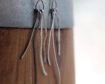 Gypsy Dangle Drop Hammered Earrings