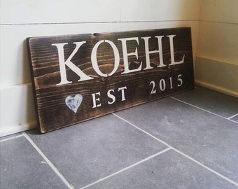 Rustic Custom Wood Sign (up to 5 letters)