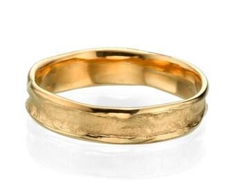 5mm Rugged Center Rose Gold Men's Wedding Band