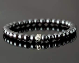 6 MM Pyrite Bead Bracelet