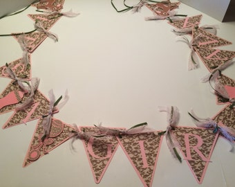 Its a Girl Camo theme banner with name