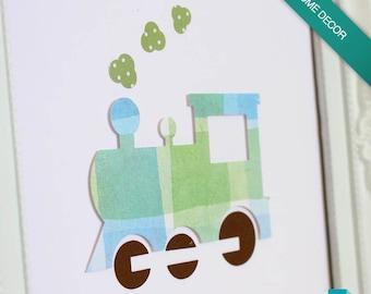 Train | 3D Paper Wall Art
