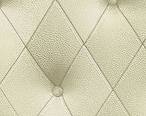 Pale Green Simulated Tufted Leather - Buttons, Diamond, Harlequin Pattern, For Wall - Headboard - Wallpaper By The Yard - LL29575 so