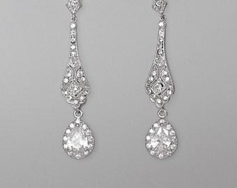 Chandelier Earrings, Crystal Bridal Earrings, Crystal Drop Earrings, Wedding Earrings, Bridal Jewelry, NATALIA  Crystal