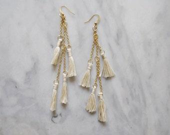 Havasu Tassel Earrings // Fiber Earrings