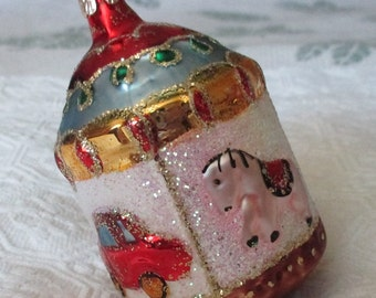 Vintage Czech Republic Merry Go Round Ornament