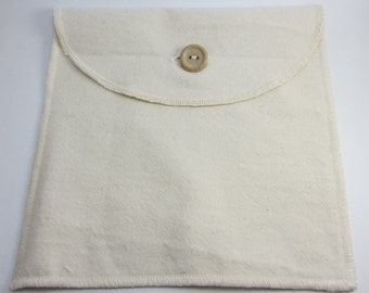 Reusable Sandwich Bag / Snack Bag in Organic Cotton ~ The Naked Bag