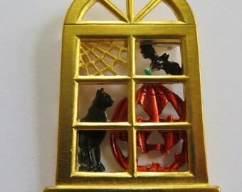 JJJonette Vintage Halloween Brooch Pin