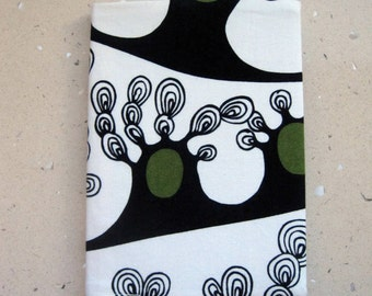 Fabric Covered Notebook, Diary or a Journal. Fits A5 Notebook. Reusable. Trees of Dreams 100% Cotton. Fully Lined. For Teacher, Student.