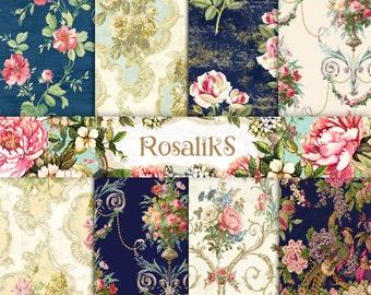 Digital Floral Paper, Digital Paper, Floral Paper, Floral Wallpaper, Wedding Paper, Digital Floral, Vintage Floral Paper, Vintage Floral