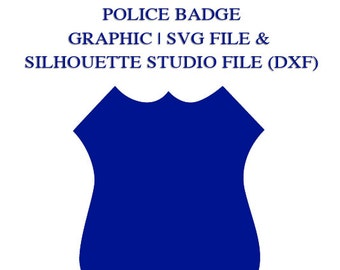 Police Badge Graphic File for Cutting Machines | SVG and Silhouette Studio (DXF)