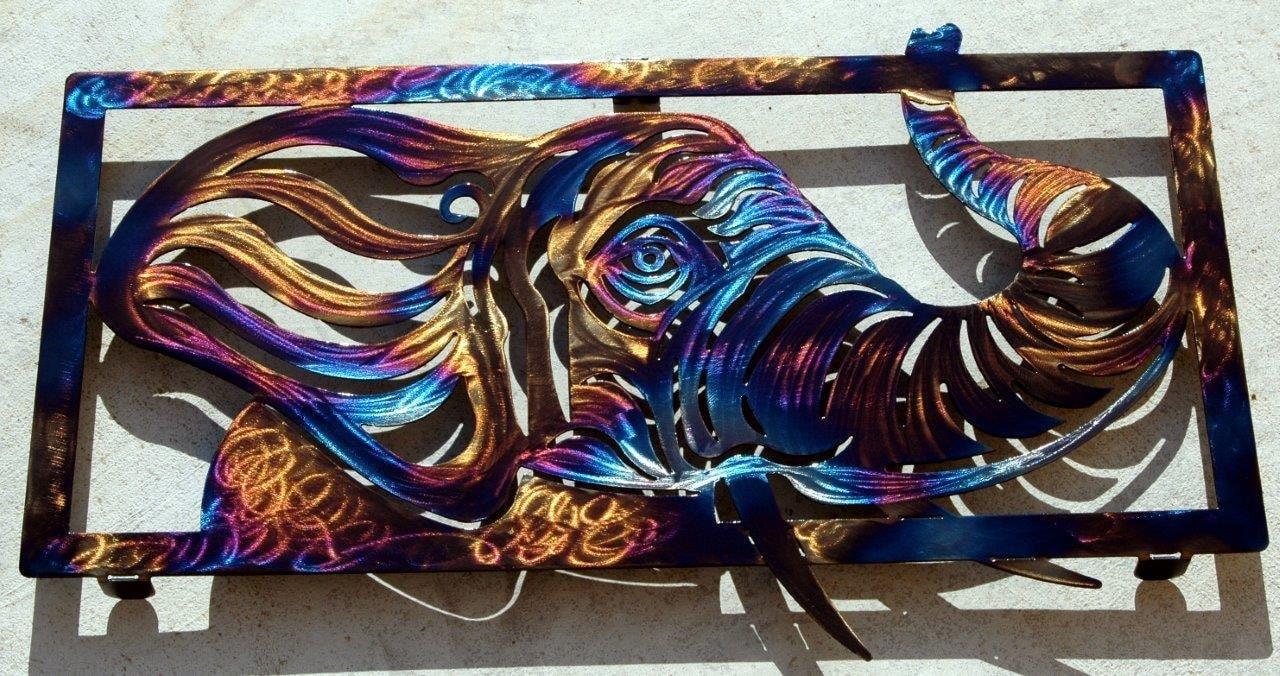Metal Elephant Wall Decor : Elephant metal art wall decor by humdingerdesignsetsy on etsy