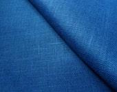 Natural Linen tablecloth. Navy blue Linen Table cloth. Dark blue  long table linen