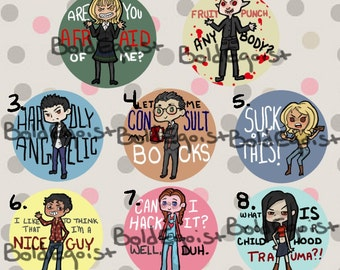 Buffy the Vampire Slayer Buttons [Season 1]