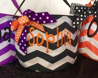 Halloween bucket: Personalized Halloween bucket pail- many designs-truck or treat