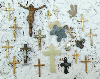 Collection of  Crosses and Rosarie Crucifixes circa 1960s