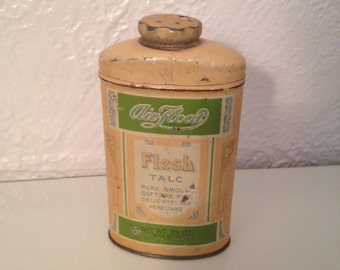 Talc Advertising Tin for Powder Room