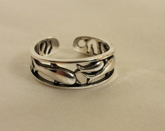 Adjustable Dolphin Toe Ring - .925 Sterling Silver - Toe Ring or knuckle ring