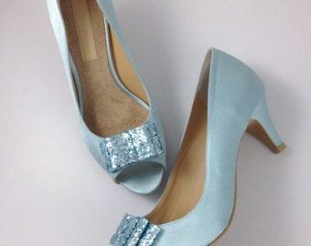 Something Blue Wedding Shoes Powder Light Robin