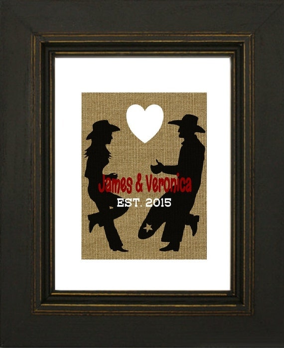 Cowboy Wedding Gifts: Items Similar To Western Personalized Art Print