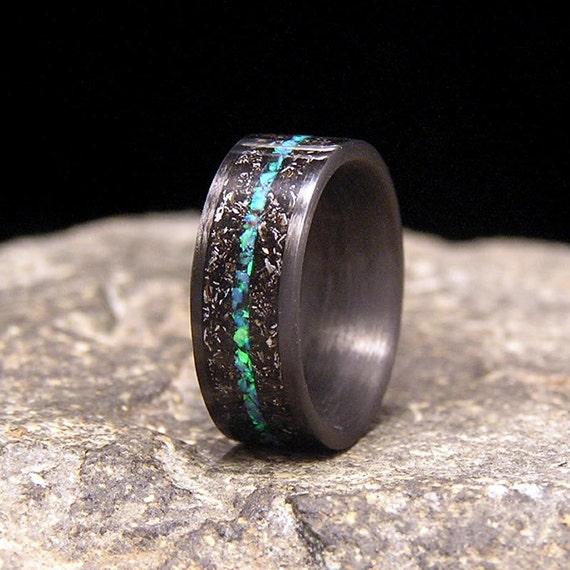 like this item - Meteorite Wedding Rings