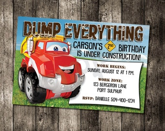Tonka Chuck & Friends Birthday Invitation