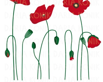 poppies clipart wreath of red poppies. poppies in a pot just like ...