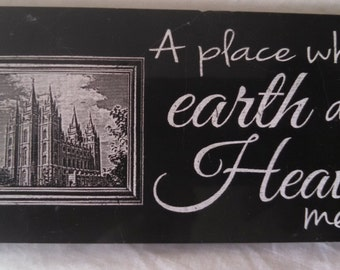 Laser Engraved Black Marble Tile