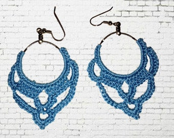 Staged HoopsCrochet Earring Pattern