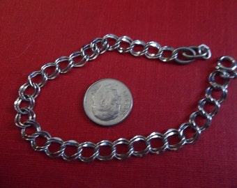 Double link sterling silver 925 Bracelet