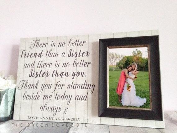 Gift For Sister - Wedding Gift For Sister - Best Friend Gift - Custom ...