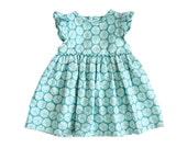 Baby Girl Dresses - Aqua Blue Baby Dress - Amaryllis Aqua Baby Girl Dress - Dress for Baby Girl - Baby Party Dresses