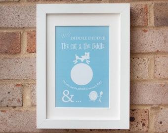 Hey Diddle Diddle - Turquoise - Gicleé print