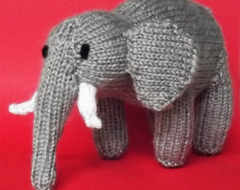 Toy Elephant, soft toy, stuffed toy, plush toy, baby toy, knitted toy