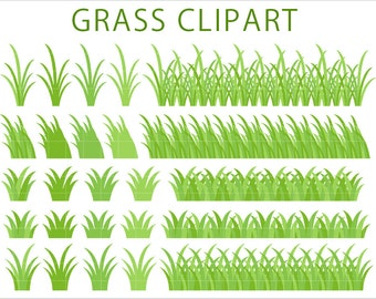 25 Grass Clipart, Green Grass Border Clip Art, PNG Borders, Divider, Frame, Printable Supplies, Instant download, by NedtiDesigns