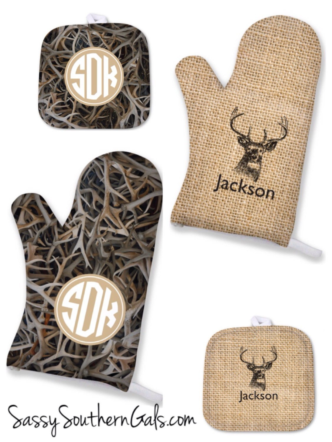Personalized mens gift oven mitt for him
