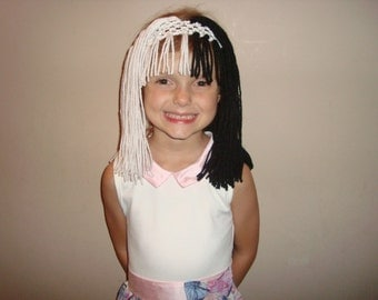 Cruella Deville or Sia inspired wig headband, great for costumes and dress up!