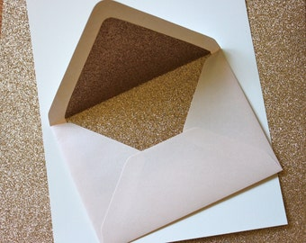 Glitter lined A7 envelopes [set of 10]